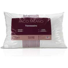Travesseiro Paco Milano 100% Poliester Branco - Sultan por R$ 12