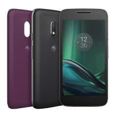 Smartphone Moto G4 Play DTV Colors XT1603 Preto com TV, 16GB, Tela de 5'', Dual Chip, Android 6.0, 4G, Câmera 8MP, Processador Quad-Core e 2GB de RAM - R$699