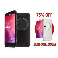 Zenfone Zoom 4GB/64GB 1,8 GHz Preto + Zenfone Zoom 4GB/64GB 1,8 GHz Branco por R$ 1999