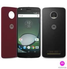 """Moto Z Play Preto Motorola com Tela de 5,5"""", 4G, 32 GB e Câmera de 16 MP - XT1635 por R$ 1390"""