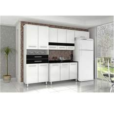 Cozinha Compacta Bartira Safira I com 11 Portas e 2 Gavetas - R$449,10
