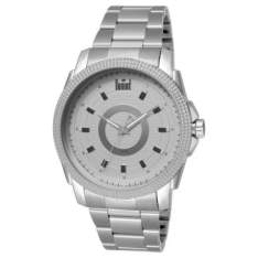 Relógio Masculino Analógico Dumont, Pulseira de Aço Prateada, Caixa com 4,2 cm - R$90