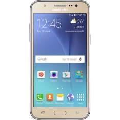 "Smartphone Samsung Galaxy J5 Duos Dual Chip Android 5.1, 5"" 16GB 4G 13MP - Dourado - R$629"