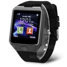 DZ09D Single SIM Smart Watch Phone  - BLACK - R$36,04