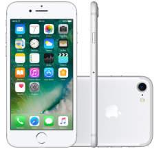 "iPhone 7 128GB prata tela4.7"" iOS 10 4G Câmera 12MP - Apple R$3.245"