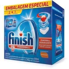 Kit Finish para Máquina de Lavar Louças com 2 Detergentes Finish Tablete por R$ 35