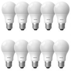 Kit Com 10 Lâmpadas de Led A60 9W 870 Lumens 5000K - R$ 88
