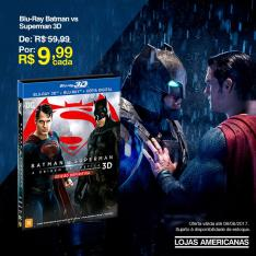 Blu-Ray 3D - Batman vs Superman por apenas R$ 9,99 ( LOJA FÍSICA )