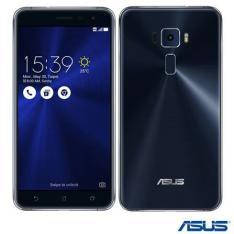 [FRETE GRÁTIS]  Asus Zenfone 3 Preto Asus, com Tela de 5.5, 4G, 64 GB e Camera de 16 MP - ZE552K L - R$1289