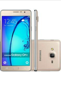 "Smartphone Samsung Galaxy On 7 Dual Chip Android 5.1 Tela 5.5"" 16GB 4G Câmera 13MP - Dourado R$ 584,36"