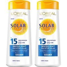 Kit 2 Protetores Solares Expertise Invisilight FPS 15 120ml L'Oréal Paris - R$10