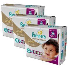 Fralda Pampers Premium Care Tamanho G - 120 Unidades
