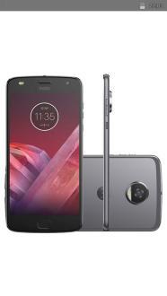 "Smartphone Motorola Moto Z2 Play Dual Chip Android 7.1.1 Nougat Tela 5,5"" Octa-Core 2.2 GHz 64GB Câmera 12MP - PlatinumR$ 1424"
