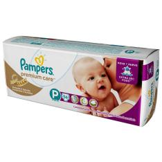 Fraldas Pampers Premium Care P/Pequeno - Mega 56 unidades por R$ 40