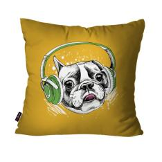 Almofada Decorativa Dog 45 x 45cm Amarelo - R$30