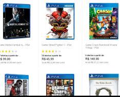 Promoção de jogos PlayStation 4 a partir de R$19,90