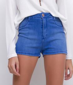 Short Jeans Cintura Alta por R$39,90