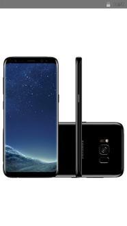 "Smartphone Samsung Galaxy S8 Dual Chip Android 7.0 Tela 5.8"" Octa-Core 2.3GHz 64GB 4G Câmera 12MP - Preto R$ 2719"