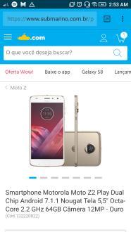 Motorola Moto Z2 Play  por 1583