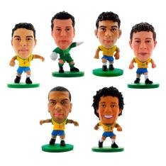 Kit de Mini Figuras - Minicraques CBF Soccerstarz - R$15