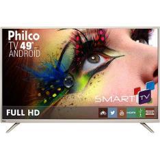 "Smart TV LED 49"" Philco PH49F30DSGWA Full HD com Conversor Digital 2 HDMI 2 USB Wi-Fi Android - R$ 1660"