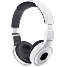 Headphone Dobravél Mondial, Alças Ajustáveis, Isolamento Acústico,   Branco - HP02 por R$ 20