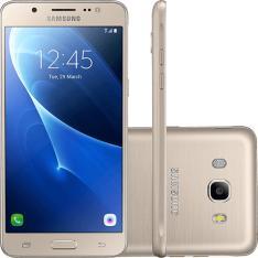 """Smartphone Samsung GALAXY J5 METAL Dual Chip Android 6.0 Tela 5.2"""" 16GB 4G Câmera 13MP - Dourado ou preto - R$665"""