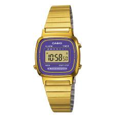 Relógio Casio Vintage Feminino Dourado Digital LA670WGA-6DF