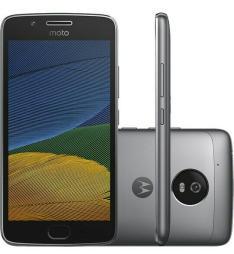 """Smartphone Moto G 5 Dual Chip Android 7.0 Tela 5"""" 32GB 4G Câmera 13MP - Platinum - R$712"""