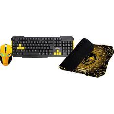 Mouse (2400 DPI) + Teclado + Mousepad - Bright - R$52,79