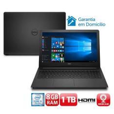 Notebook Dell Inspiron I15-5566-A40P com Intel® Core™ i5-7200U, 8GB por R$ 2099