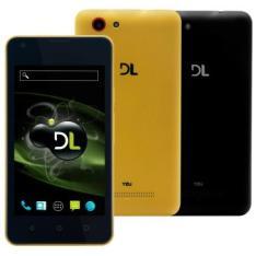 Smartphone DL YZU DS42 Preto - Dual Chip, 3G - Capa Amarela - R$200