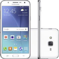 "Smartphone Samsung Galaxy J7 Duos Dual Chip Android 5.1 Tela 5.5"" 16GB 4G Câmera 13MP - Branco por R$ 647"