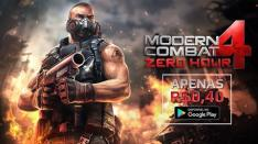 Clássico FPS Modern Combat 4: Zero Hour  por R$ 0,4