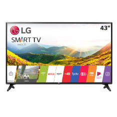 "Smart TV LED 43"" LG 43LJ5500 Full HD 2 HDMI 1 USB Preto - R$1799"