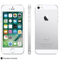 """iPhone SE Prata, com Tela de 4"""", 4G, 16 GB e Câmera de 12 MP - R$1499"""
