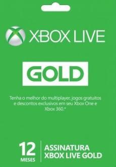Cartão Microsoft Xbox Live Gold 12 meses para Xbox One e Xbox 360 - R$125