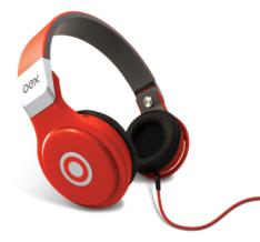 Fone de Ouvido Oex Headphone Groove Vermelho Hp102 com microfone