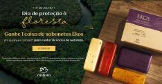 Ganhe uma caixa de sabonetes Natura Ekos em qualquer compra na rede Natura*