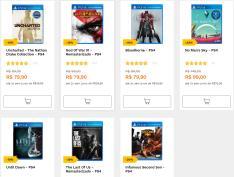 Jogos de PS4 a partir de 79,00