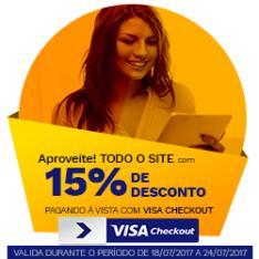 Todo o Site Saraiva Com 15% off à Vista Com Visa Checkout