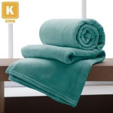 Cobertor/ Manta King de Microfibra Flannel Toque Super Macio Home Design Acqua por R$ 35