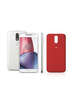 Smartphone Motorola Moto G4 Plus XT1640 Branco Dual Chip 32GB Android Marshmallow 4G Wi-Fi Câmera 16 MP