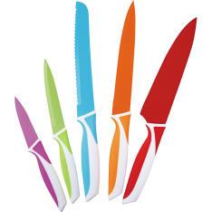 Conjunto 5 Facas Casa do Chef Colorida - R$46