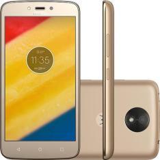 "Smartphone Motorola Moto C Plus Dual Chip Android 7.0 Nougat Tela 5"" Quad-Core 1.3GHz 8GB 4G Câmera 8MP - Ouro"