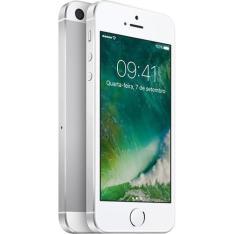 Iphone Se 64GB Prata IOS 4G/Wi-Fi 12MP - Apple 1.659 no cartão submarino e 1.759 no boleto