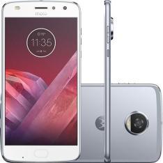 "Smartphone Motorola Moto Z2 Play Dual Chip Android 7.1.1 Nougat Tela 5,5"" Octa-Core 2.2 GHz 64GB Câmera 12MP - Azul Topázio 1.619$ no BOLETO"