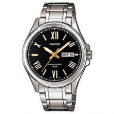 Relógio Masculino Casio Analógico com Calendário, Pulseira em aço, Resistente à Água 100 metros - R$160