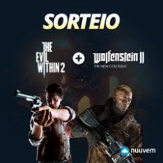 Sorteio de uma key dos jogos The Evil Within 2 + Wolfenstein 2 na nuuvem