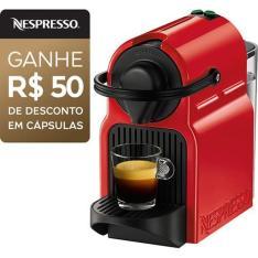 Cafeteira Expresso Nespresso Inissia 19 BAR - Vermelho Ruby e ganha 50$ em cápsulas R$289